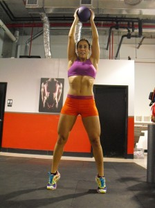 Leticia doing plyometrics